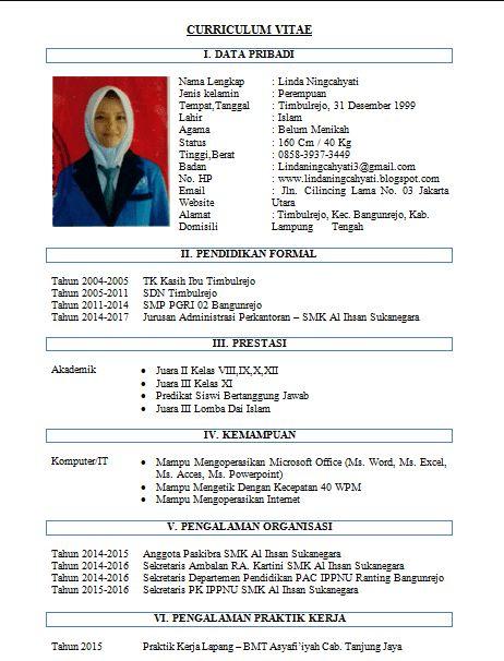 Contoh CV Format Doc